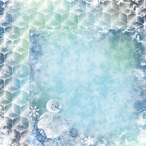 Moxxie - Winterland Collection - 12 x 12 Double Sided Paper - Frosty