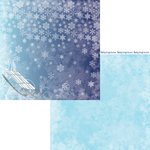 Moxxie - Winterland Collection - 12 x 12 Double Sided Paper - Slip Slidin