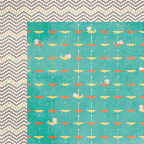 Wee Ones Collection - 12 x 12 Double Sided Paper - Splish Splash by Moxxie