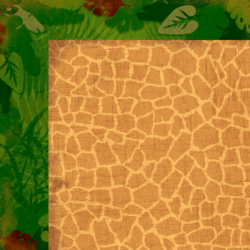 Moxxie - Zoofari Collection - 12 x 12 Double Sided Paper - Wild Wonder