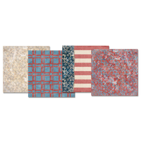 E-Kit Papers (Digital Scrapbooking) - American Made 3