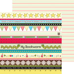 Nikki Sivils - School is Cool Collection - 12 x 12 Double Sided Paper - School Border Strips