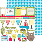 Nikki Sivils - School is Cool Collection - 12 x 12 Double Sided Paper - Takin' Notes