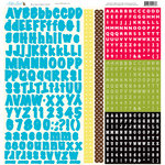 Nikki Sivils - School is Cool Collection - 12 x 12 Cardstock Stickers - Blue Alphabet