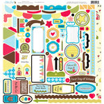 Nikki Sivils - School is Cool Collection - 12 x 12 Cardstock Stickers - Cool Element