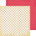 Nikki Sivils - Get Well Soon Collection - 12 x 12 Double Sided Paper - Red Crosses