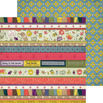Nikki Sivils - Get Well Soon Collection - 12 x 12 Double Sided Paper - Get Well Border Strips
