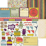 Nikki Sivils - Get Well Soon Collection - 12 x 12 Double Sided Paper - Get Well Cut Ups