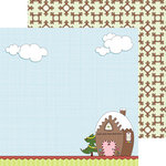Nikki Sivils - Gingerbread Land Collection - Christmas - 12 x 12 Double Sided Paper - Gingerbread Play