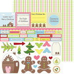 Nikki Sivils - Gingerbread Land Collection - Christmas - 12 x 12 Double Sided Paper - Gingerbread Cut Ups