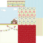 Nikki Sivils - Gingerbread Land Collection - Christmas - 12 x 12 Double Sided Paper - Gingerbread Minis