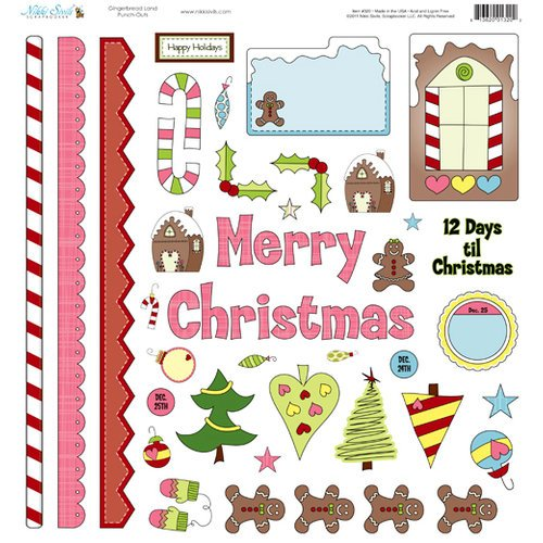 Nikki Sivils - Gingerbread Land Collection - Christmas - 12 x 12 Punch Outs
