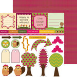 Nikki Sivils - Beatrice Collection - 12 x 12 Double Sided Paper - Beatrice Cut Ups