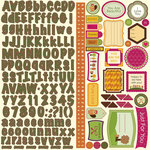 Nikki Sivils - Beatrice Collection - 12 x 12 Cardstock Stickers