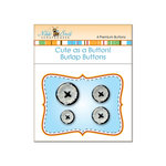 Nikki Sivils - Cute as a Button - Burlap Buttons - Black