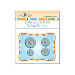 Nikki Sivils - Cute as a Button - Burlap Buttons - Blue