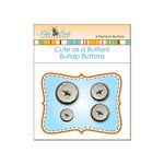 Nikki Sivils - Cute as a Button - Burlap Buttons - Brown