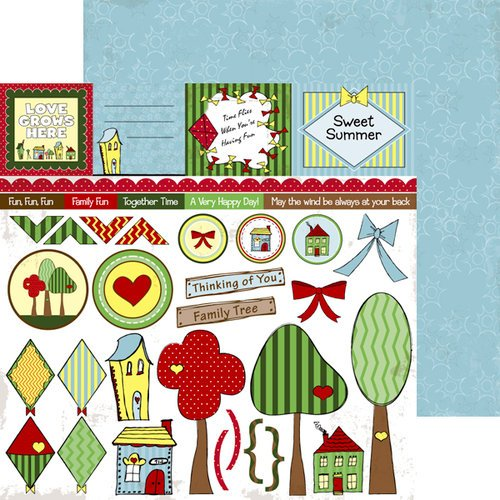 Nikki Sivils - We Are Family Collection - 12 x 12 Double Sided Paper - Family Cut Ups