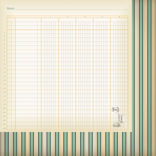 Nikki Sivils - Messages Collection - 12 x 12 Double Sided Paper - Log It