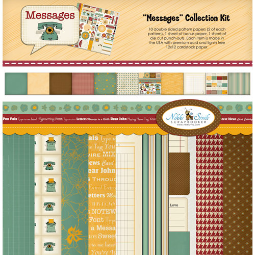 Nikki Sivils - Messages Collection - 12 x 12 Collection Kit
