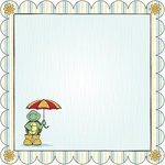 Nikki Sivils - Its Raining It's Pouring Collection - 12 x 12 Die Cut Paper - Taking Shell-ter