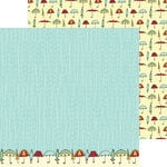 Nikki Sivils - Its Raining It's Pouring Collection - 12 x 12 Double Sided Paper - Rain, Rain, Go Away!