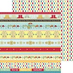 Nikki Sivils - Its Raining It's Pouring Collection - 12 x 12 Double Sided Paper - Rain Border Strips