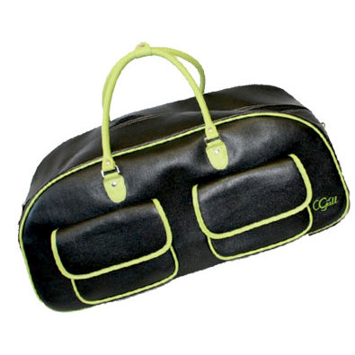 CGull - Provo Craft - Cricut Expression - Leather Rolling Tote - Black and Green