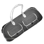 CGull - Provo Craft - Cricut Expression - Canvas Rolling Tote - Black and White Polka Dot