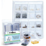 ScrapOnizer - The Clear Solution - Scrapbook and Craft Toolbox - Mini Containers - 8 Pack