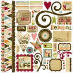 Memory Works - Simple Stories - Life Documented Collection - 12 x 12 Cardstock Stickers - Fundamentals