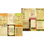 Memory Works - Simple Stories - Life Documented Collection - 12 x 12 Double Sided Paper - Journaling Card Elements