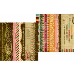 Memory Works - Simple Stories - Life Documented Collection - 12 x 12 Double Sided Paper - Border and Title Strip Elements