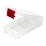 Creative Options - Pro Latch Mini Sideways Utility Box - 1-4 Compartments - Clear with Magenta