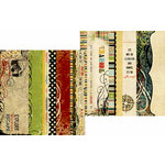 Memory Works - Simple Stories - Destinations Collection - 12 x 12 Double Sided Paper - Border and Title Strip Elements