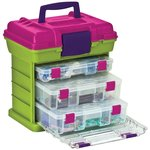 Creative Options - Grab'n Go - 3-By Rack System - Green and Magenta - Medium
