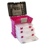 Creative Options - Grab'n Go - 3-By Rack System - Magenta and Sparkle Gray - Medium