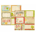 Memory Works - Simple Stories - 100 Days of Summer Collection - 12 x 12 Double Sided Paper - Journaling Card Elements 1