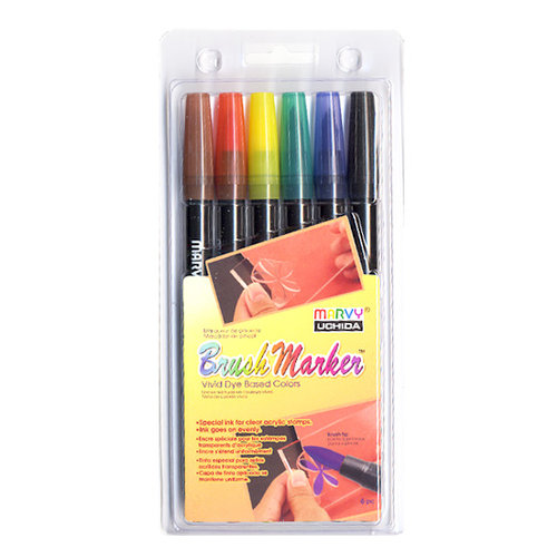 Marvy Uchida - Brush Marker Set - 6 Pieces