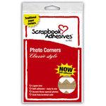 3L Scrapbook Adhesives - Photo Corners - Classic Style - Kraft - 126 Per Bag