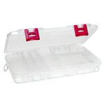 Creative Options - Pro Latch Medium Utility Box - 5-20 Compartments - Clear with Magenta