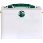 Provo Craft - Rectangle Tin Box with Handle - White