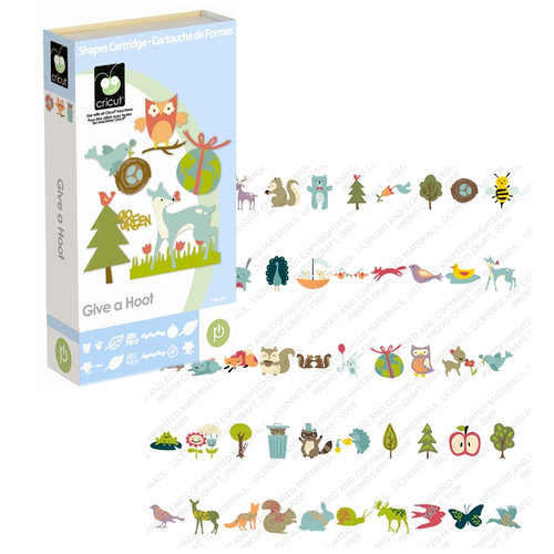 Provo Craft - Cricut Personal Electronic Cutting System - Give A Hoot - Shapes Cartridge, CLEARANCE