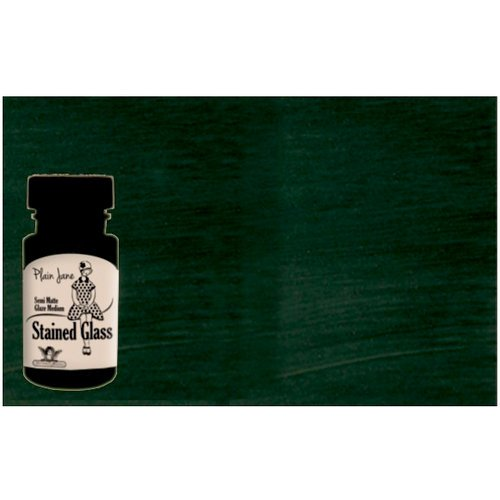 Tattered Angels - Plain Jane Collection - Stained Glass - Semi Matte Glaze - 1.35 Ounce Bottle - Green