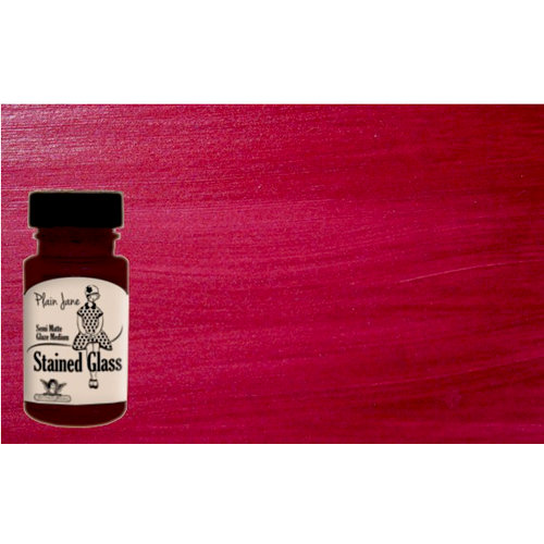 Tattered Angels - Plain Jane Collection - Stained Glass - Semi Matte Glaze - 1.35 Ounce Bottle - Red