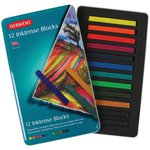 Derwent - Inktense Blocks - Ink Blocks - 12 Pieces
