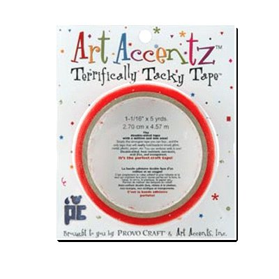 Provo Craft Art Accentz - Terrifically Tacky Tape - One and One-Sixteenth Inch by 5 yards