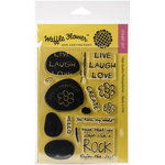 Waffle Flower Crafts - Clear Acrylic Stamps - Rock My World