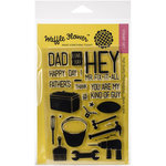 Waffle Flower Crafts - Clear Acrylic Stamps - Hey Mr