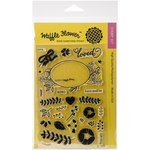 Waffle Flower Crafts - Clear Acrylic Stamps - Loved